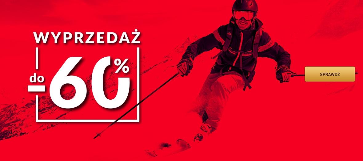 Intersport: wyprzedaż do 60% rabatu na odzież, obuwie,, sprzęt do sportów zimowych, narty i wiele innych