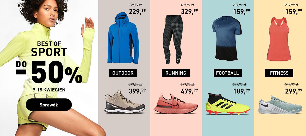 Intersport: do 50% rabatu na odzież i obuwie znanych marek - Best Of Sport