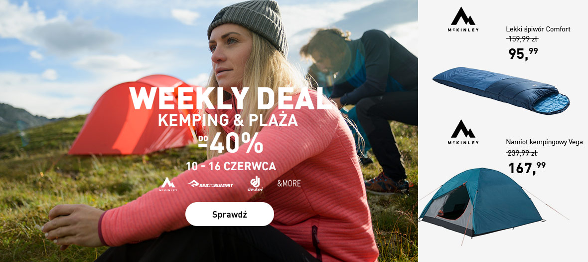 Intersport: do 40% rabatu na akcesoria na kemping i plażę - weekly deal