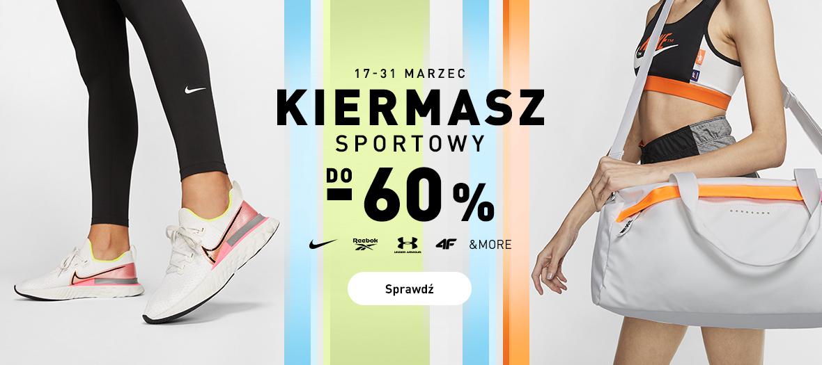 Intersport: Kiermasz Sportowy do 60% zniżki na odzież, obuwie oraz akcesoria sportowe znanych marek