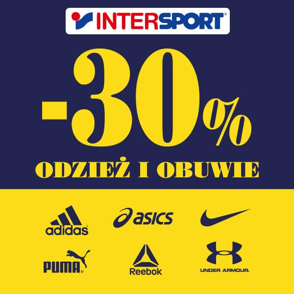 Intersport: 30% zniżki na odzież i obuwie