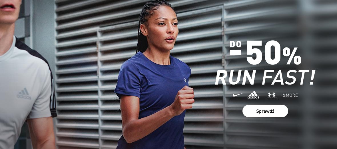 Intersport: do 50% rabatu na odzież, obuwie i akcesoria do biegania znanych marek m.in. nike, adidas, under armour