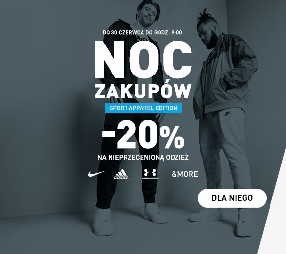 Intersport: 20% rabatu na odzież nieprzecenioną znanych marek m.in. Nike, Adidas, Under Armour
