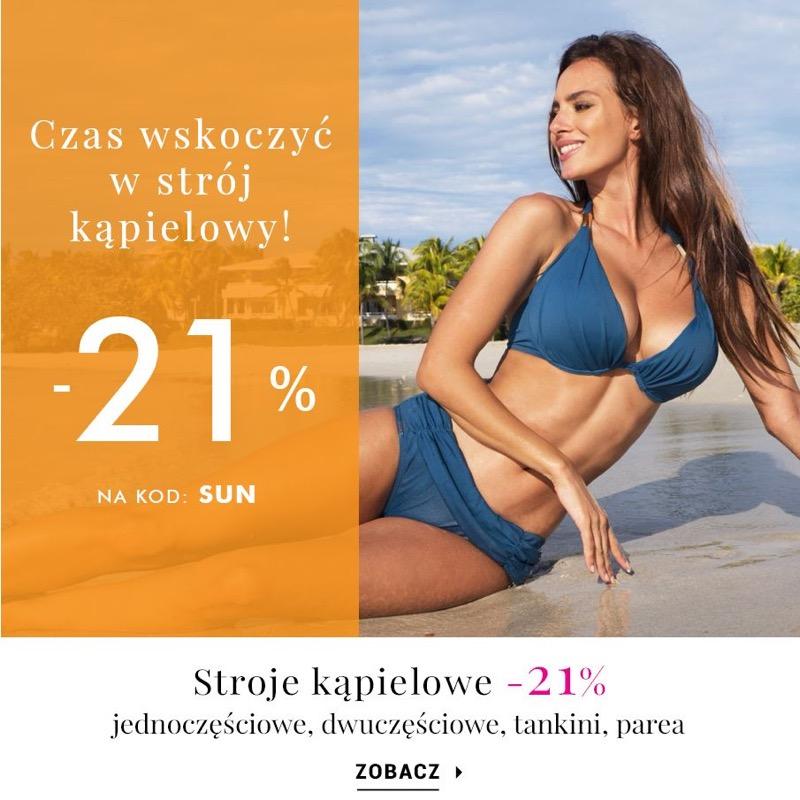 Intymna: 21% rabatu na stroje kąpielowe