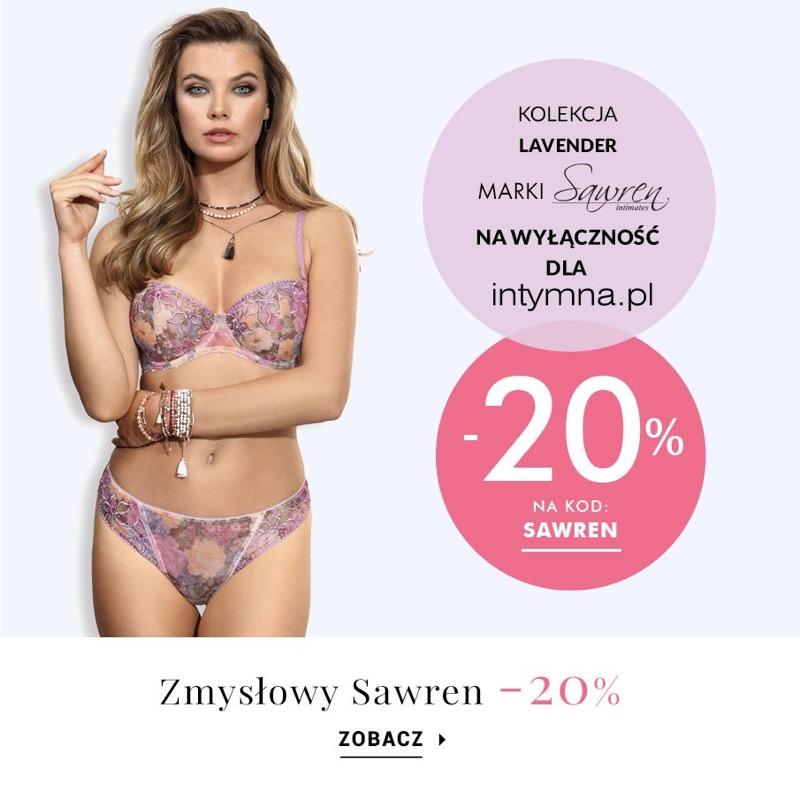 Intymna: 20% rabatu na bieliznę damską marki Sawren