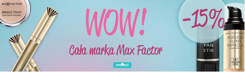 Istyl: 15% rabatu na całą markę Max Factor