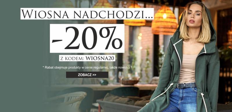 5c92162bb9 Jesteś Modna  20% rabatu na produkty w cenie regularnej i nowości