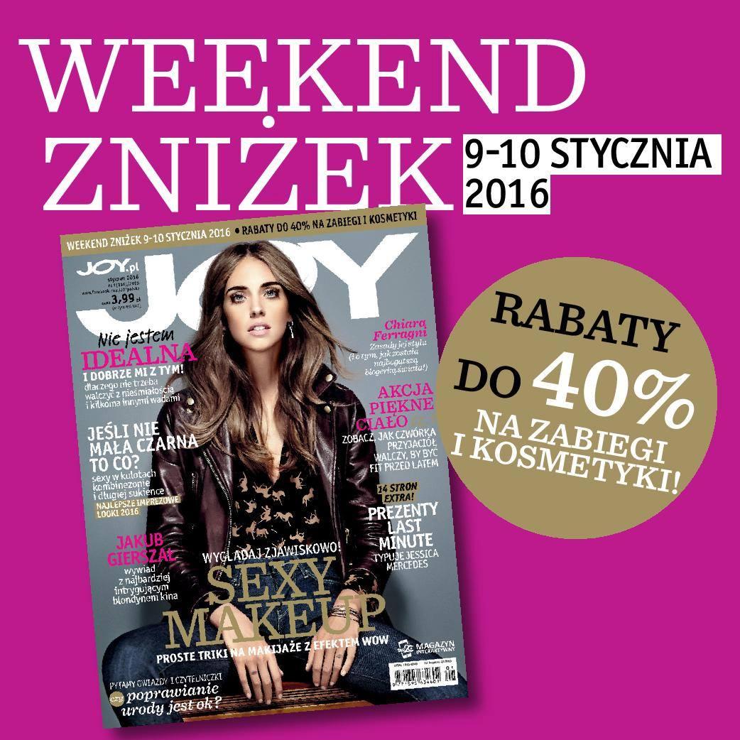 Weekend Zniżek z Joy w całej Polsce 9-10 stycznia 2016                         title=
