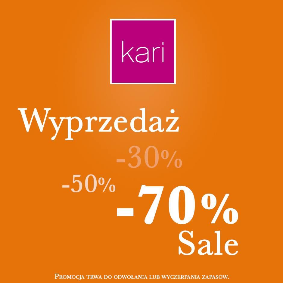 Kari: wyprzedaż do 70%