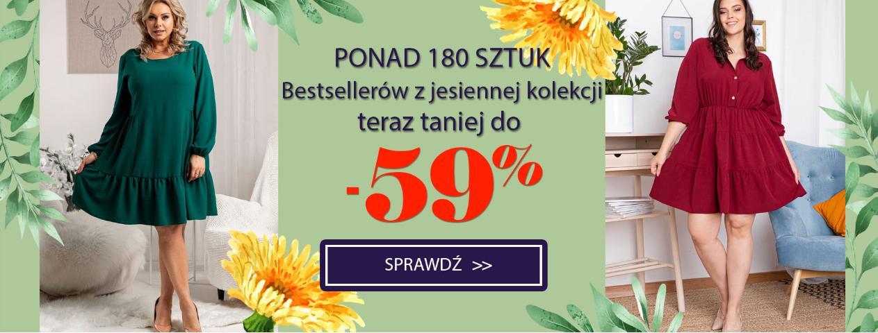 Karko Karko: do 59% zniżki na odzież damską Plus Size - ponad 180 bestsellerów