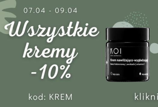 Koi Cosmetics: 10% rabatu na wszystkie kremy
