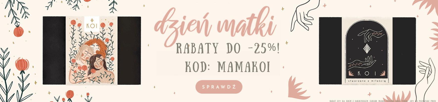 Koi Cosmetics: 25% zniżki na kosmetyki naturalne z okazji Dnia Mamy