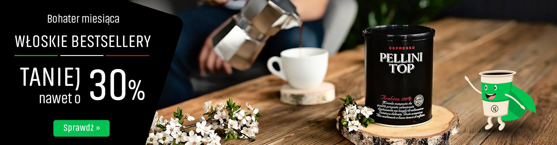 Konesso: do 30%  zniżki zniżki na włoskie kawy Pellini