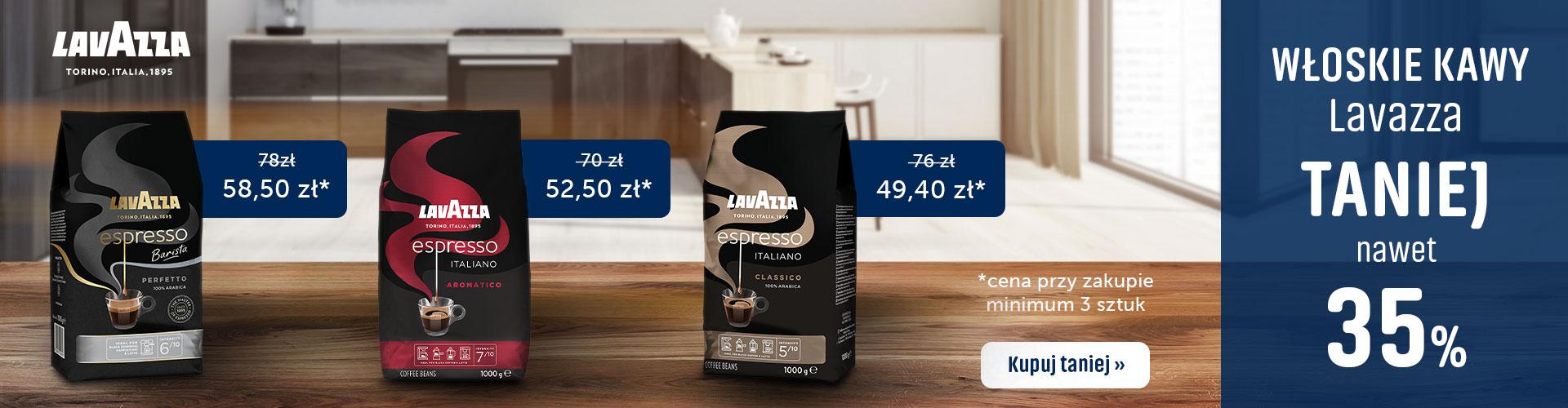 Konesso: nawet 35% rabatu na włoskie kawy Lavazza przy zakupie min. 3 sztuk