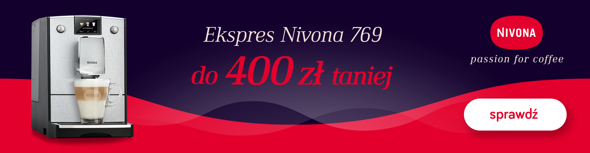 Konesso: do 400 zł rabatu na ekspres do kawy Nivona 769