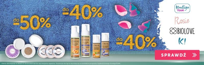 Kontigo: do 50% rabatu na kosmetyki do pielęgnacji i makijażu