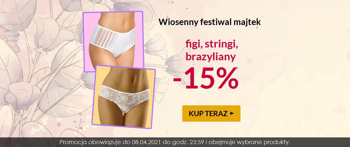 Kontri: 15% rabatu na figi, stringi i brazyliany - festiwal majtek
