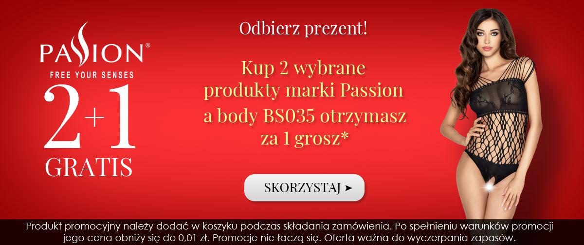 Kontri: kup 2 wybrane produkty marki Passion, a body BS035 otrzymasz za 1 grosz