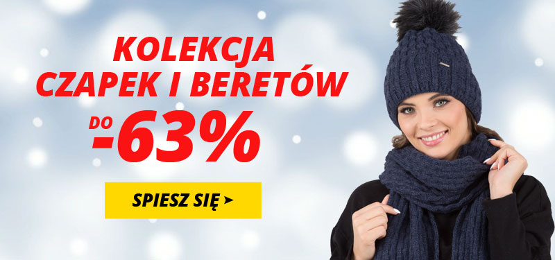 Kontri: do 63% zniżki na kolekcję czapek i beretów