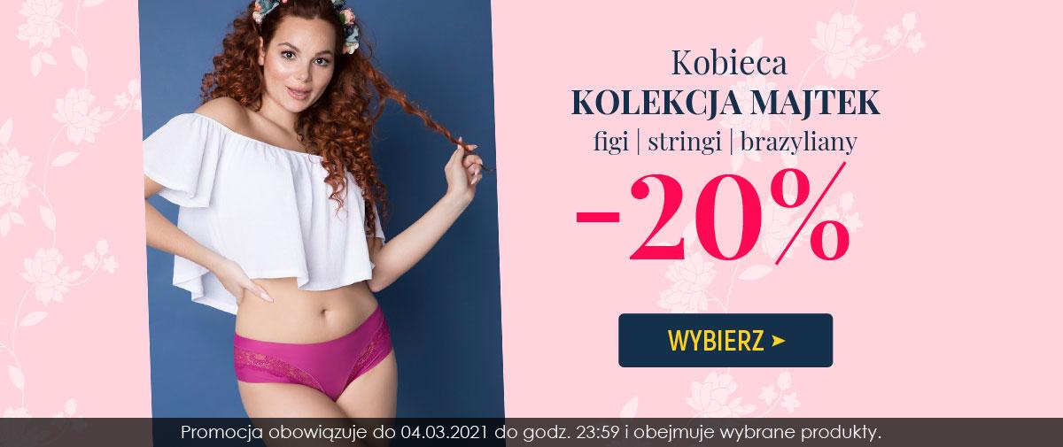 Kontri Kontri: 20% rabatu na kolekcję majtek - figi, stringi brazyliany