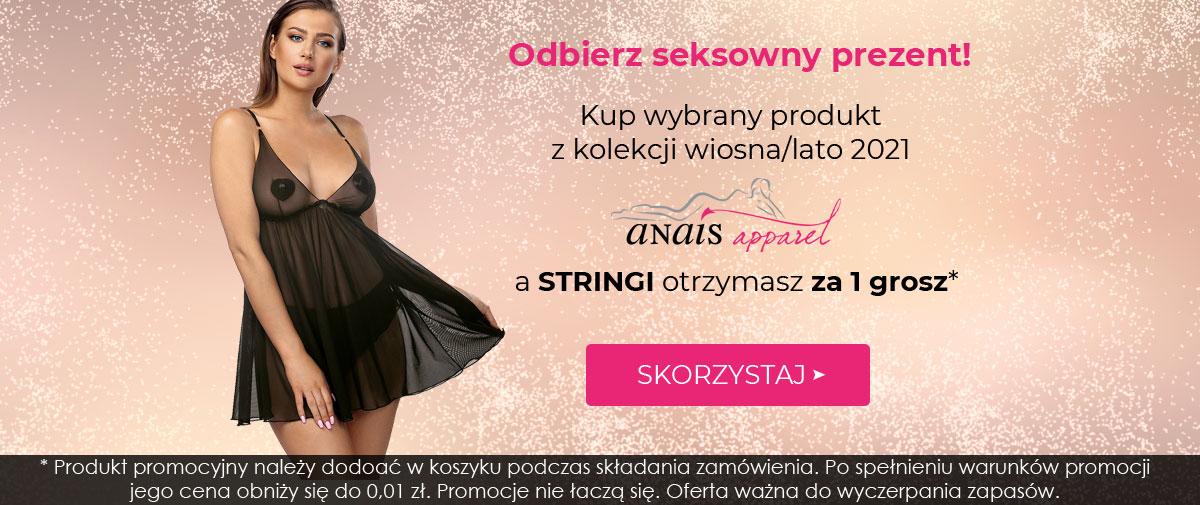 Kontri: przy zakupie dowolnego produktu anais apparel z kolekcji WL 2021, stringi otrzymasz za 1 grosz