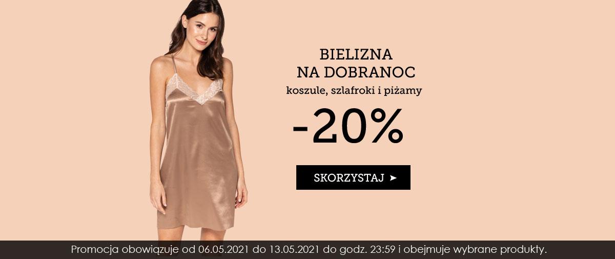 Kontri: 20% rabatu na bieliznę na dobranoc - koszule, szlafroki i piżamy