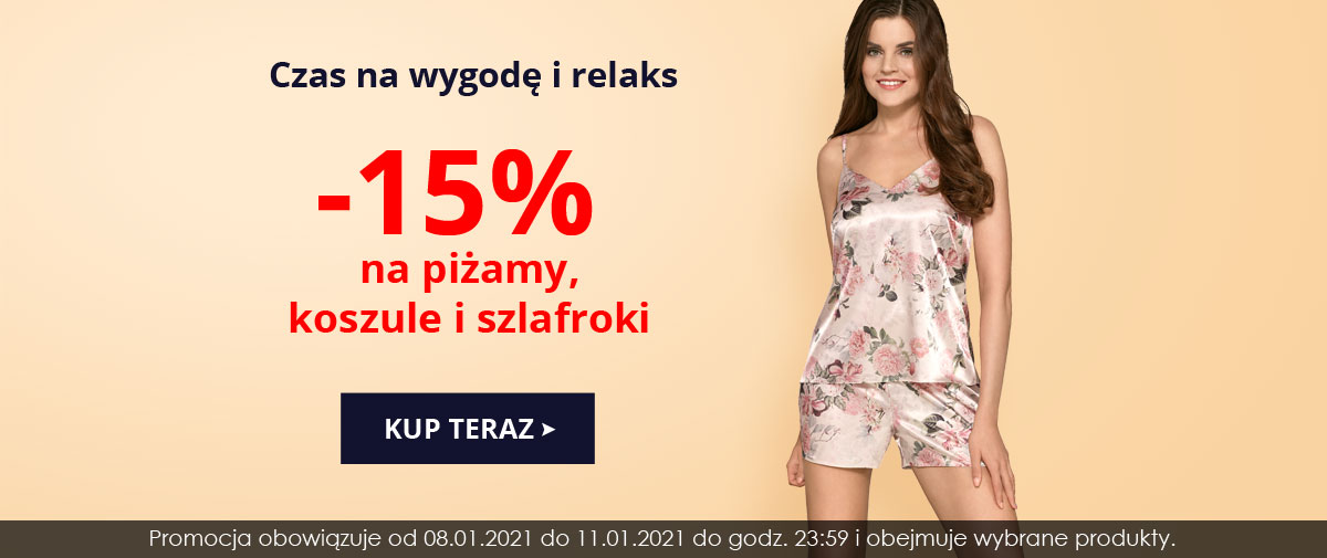 Kontri Kontri: 15% rabatu na piżamy, koszule nocne i szlafroki
