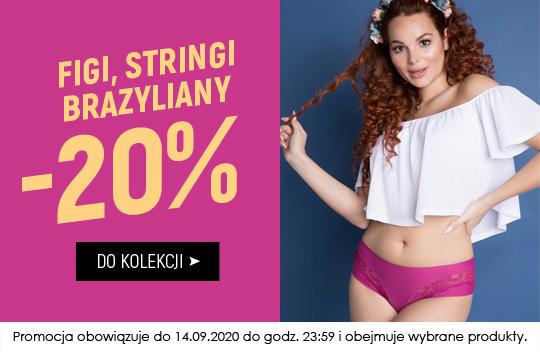Kontri: 20% rabatu na figi, stringi, brazyliany                         title=