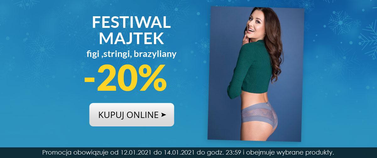 Kontri: Festiwal Majtek 20% zniżki na figi, stringi, brazyliany
