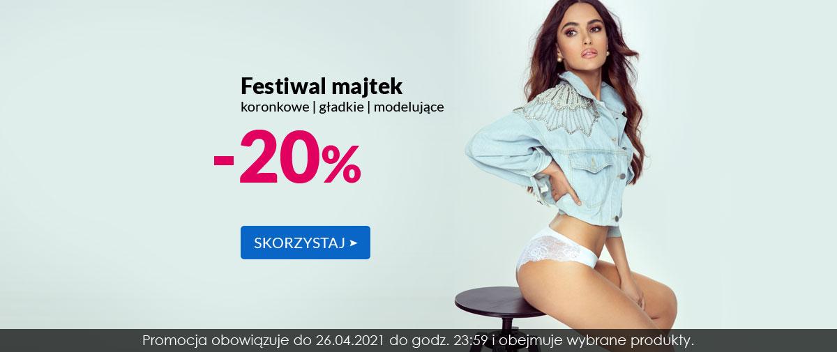Kontri: 20% zniżki na majtki koronkowe, gładkie i modelujące - festiwal majtek