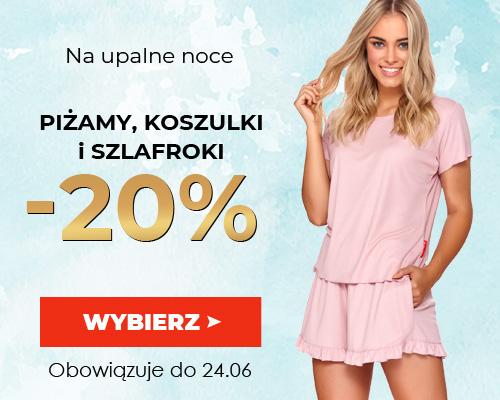 Kontri: 20% rabatu na piżamy, koszulki i szlafroki