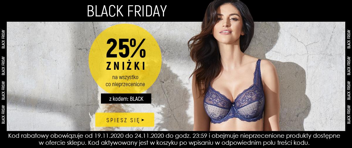Kontri Kontri: Black Friday 25% rabatu na bieliznę damską, piżamy, koszule, szlafroki, czapki, szaliki, berety