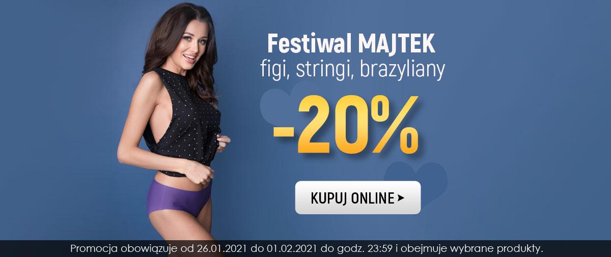 Kontri: Festiwal Majtek 20% rabatu na figi, stringi, brazyliany