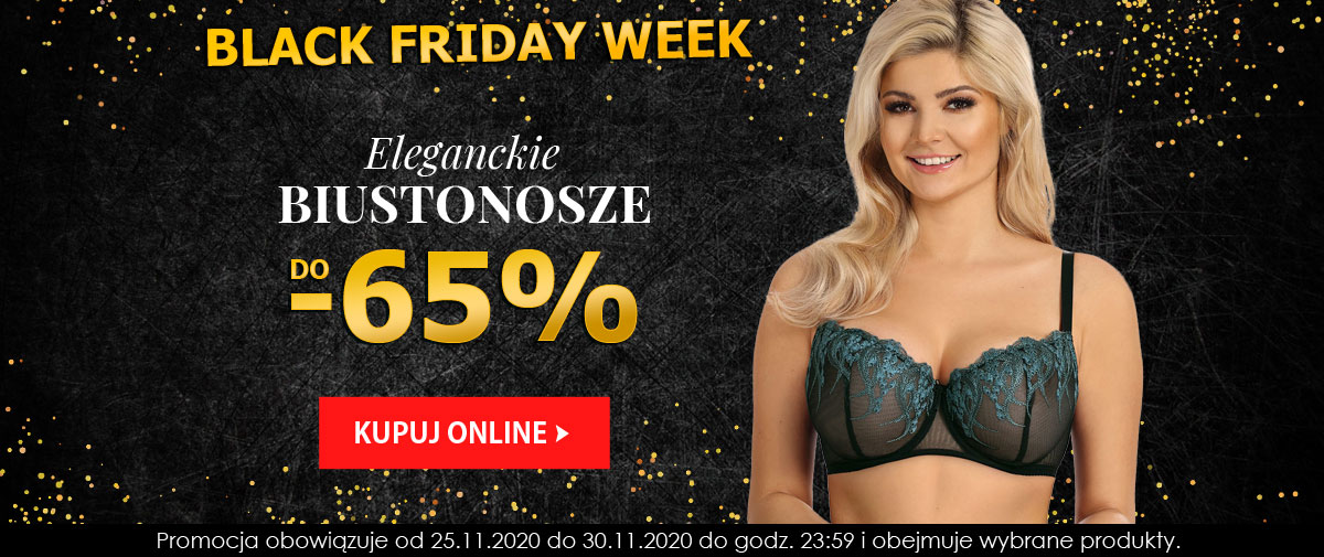 Kontri: Black Friday Week do 65% zniżki na eleganckie biustonosze