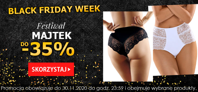 Kontri: Black Friday Week do 35% zniżki na majtki