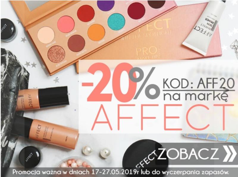 Kosmetyki z Ameryki: 20% zniżki na kosmetyki do makijażu marki Affect                         title=