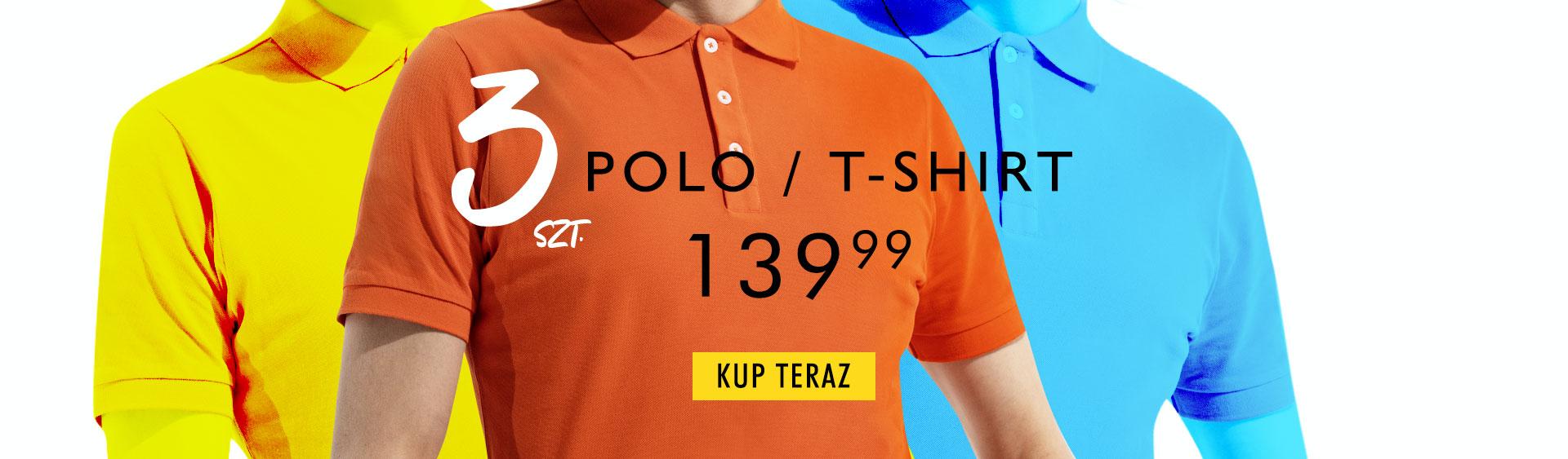Kubenz Kubenz: 3 szt. koszulek polo lub t-shirtów za 139,99 zł