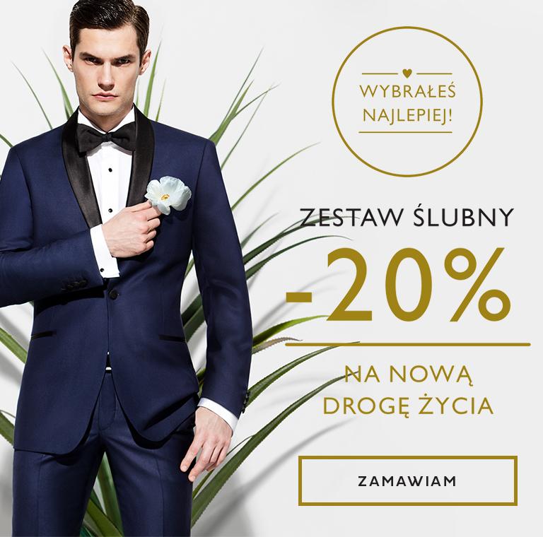 e0a02921b Kubenz: 20% zniżki na garnitury ślubne