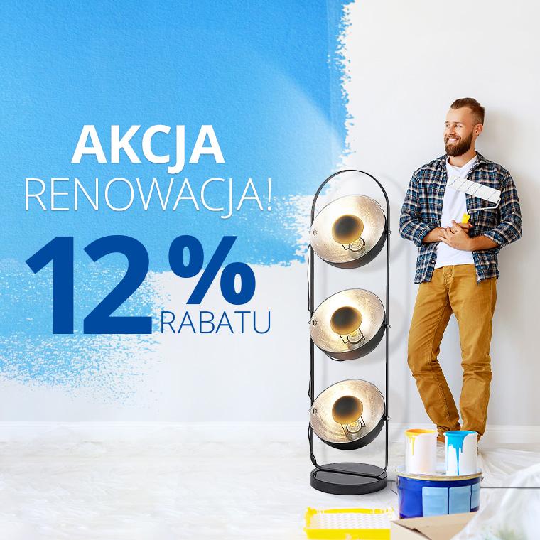 Lampy: 12% rabatu na lampy, oświetlenie wewnętrzne oraz zewnętrzne - akcja renowacja