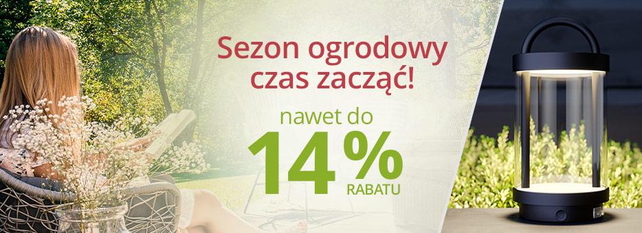 Lampy: 14% zniżki na oświetlenie ogrodowe przy zakupach za min. 1200 zł