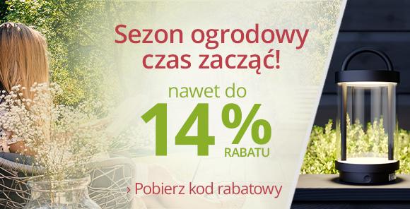 Lampy: 8% rabatu na asortyment do ogrodu przy zakupach za min. 400 zł