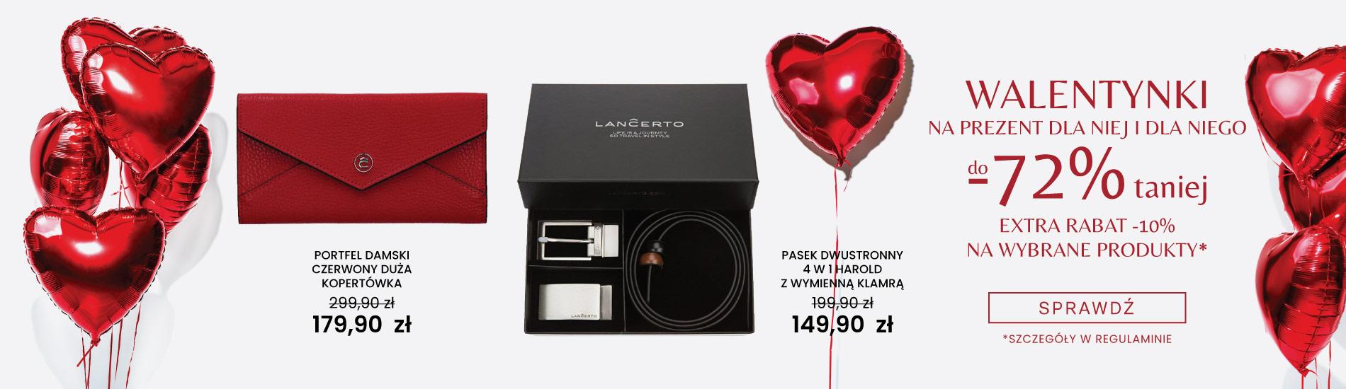 Lancerto: do 72% rabatu na Walentynkowe prezenty dla niej i dla niego