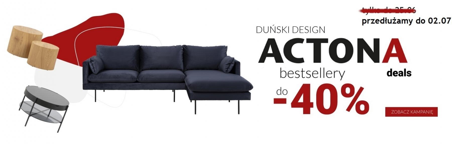 Lectus: do 40% zniżki na meble duńskie marki Actona