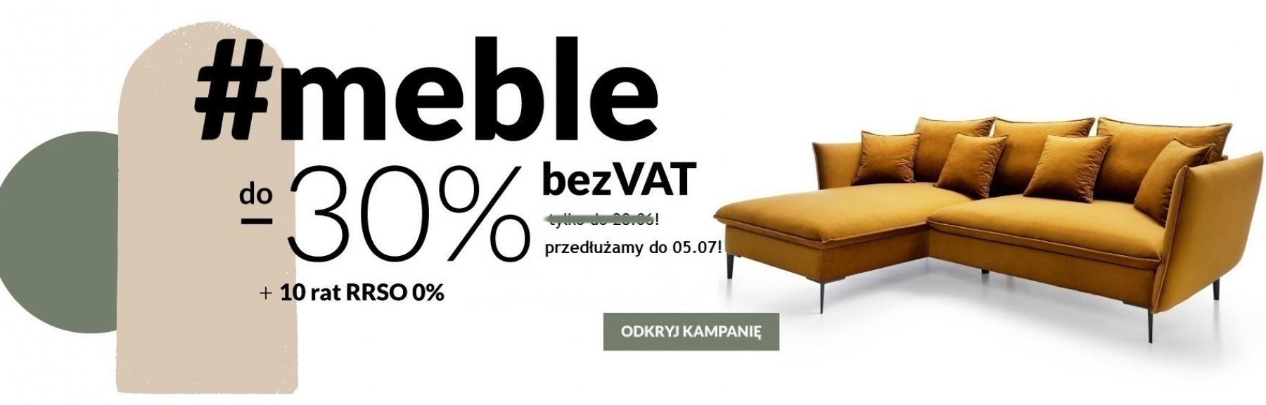 Lectus Lectus: do 30% rabatu na meble z kategorii meble bez VAT