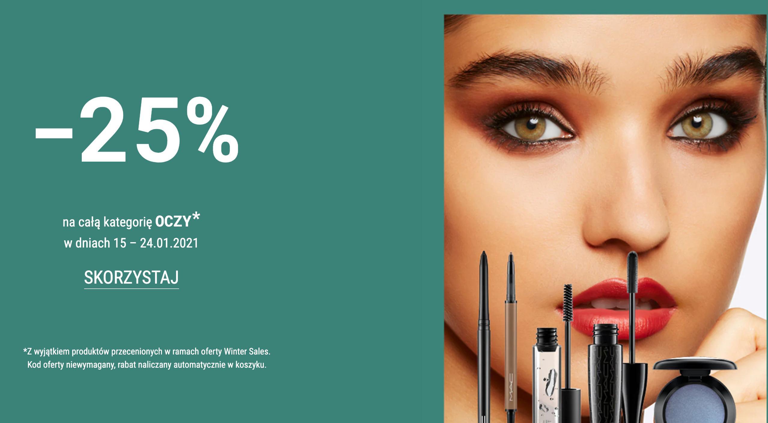 Mac Cosmetics: 25% zniżki na kosmetyki do makijażu oczu