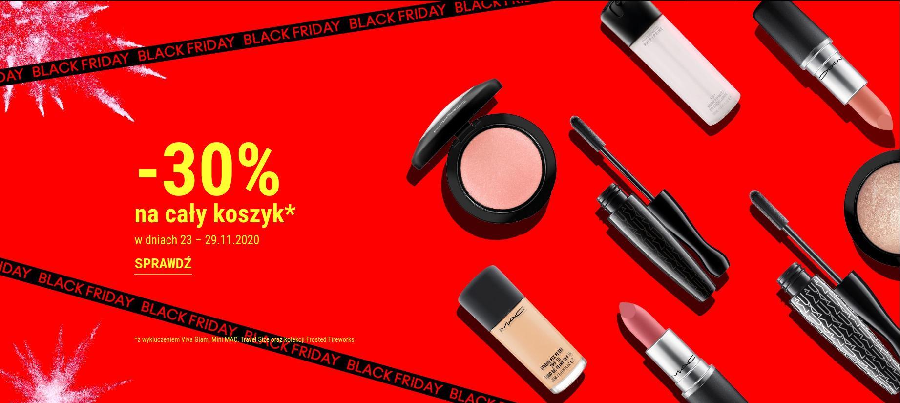 Mac Cosmetics: Black Friday 30% zniżki na kosmetyki do makijażu