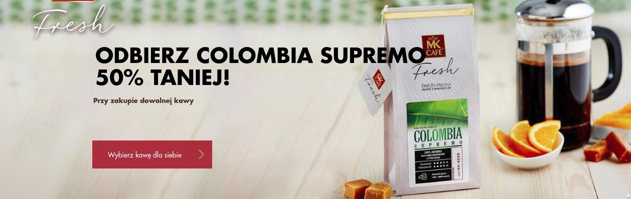 MK Cafe: 50% zniżki na kawę Colombia Supremo