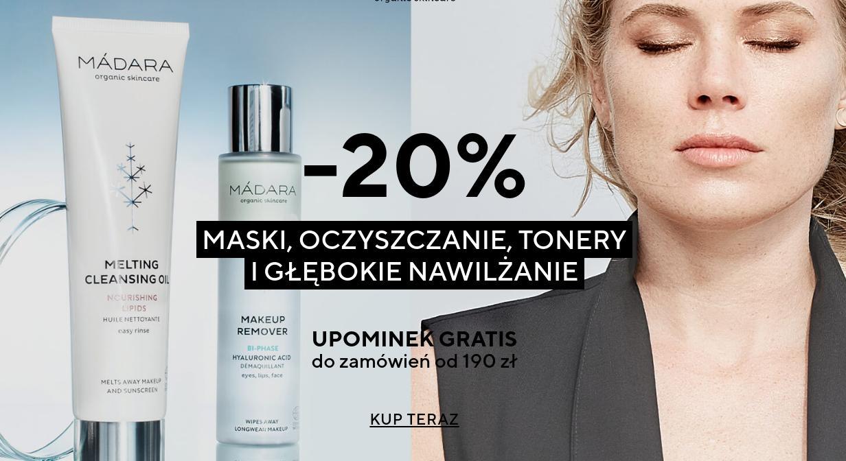 Madara Cosmetics: 20% rabatu na maski, oczyszczanie, tonery i głębokie nawilżanie