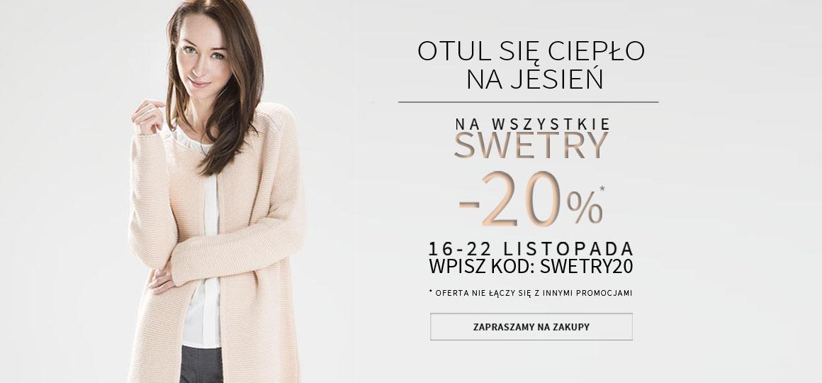 Makalu: 20% zniżki na swetry