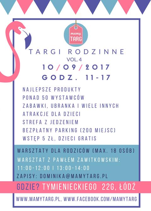 Targi rodzinne Mamy Targ 10 września 2017 w Łodzi